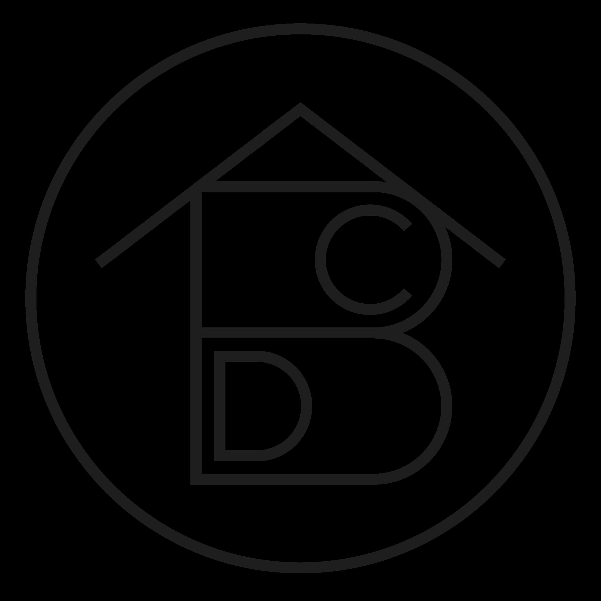 logo ABCD MAISON blanc et noir