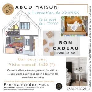 ABCD MAISON Bon cadeau factice visite conseil