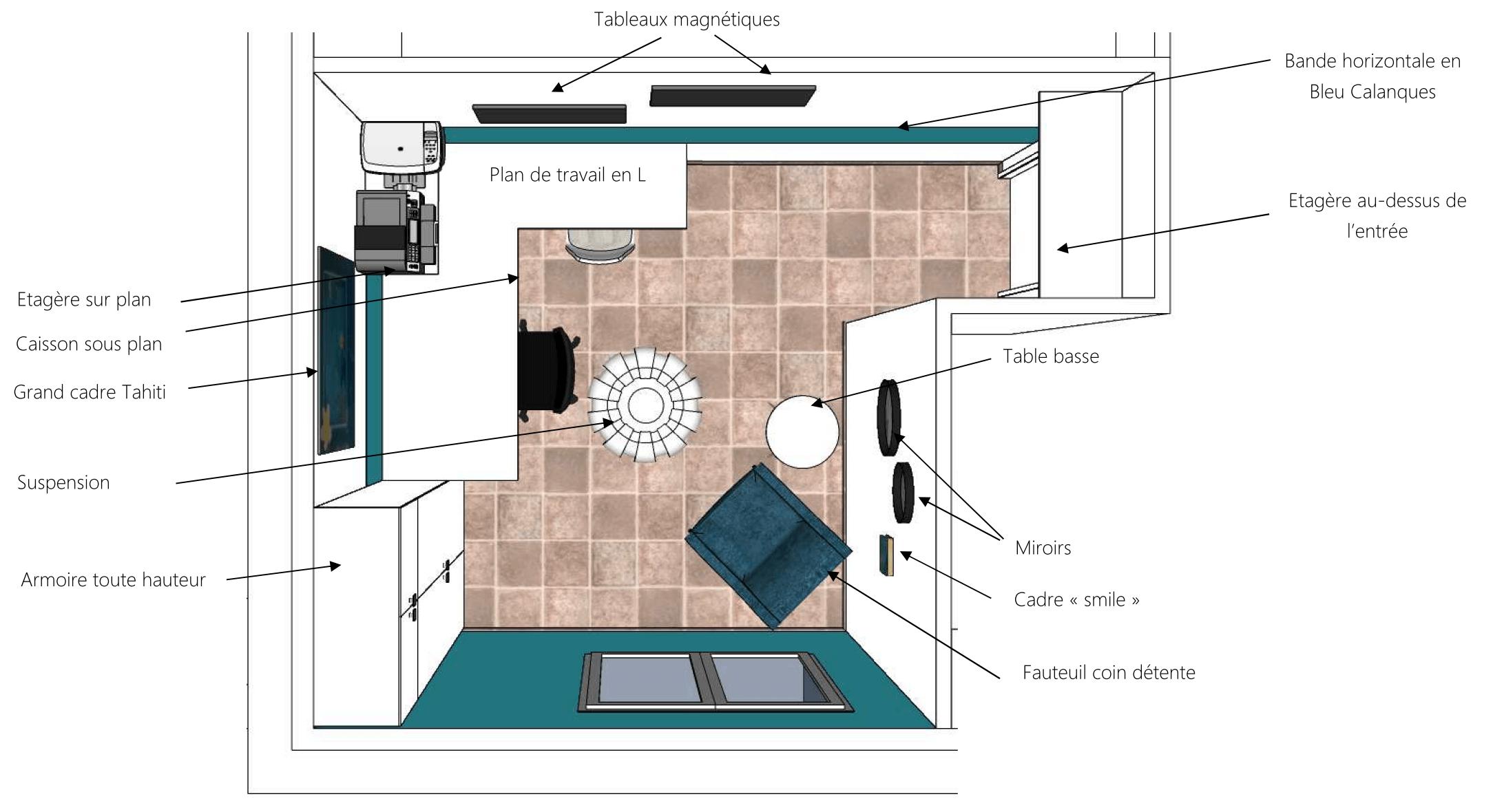 Plan d'aménagement bureau à domicile