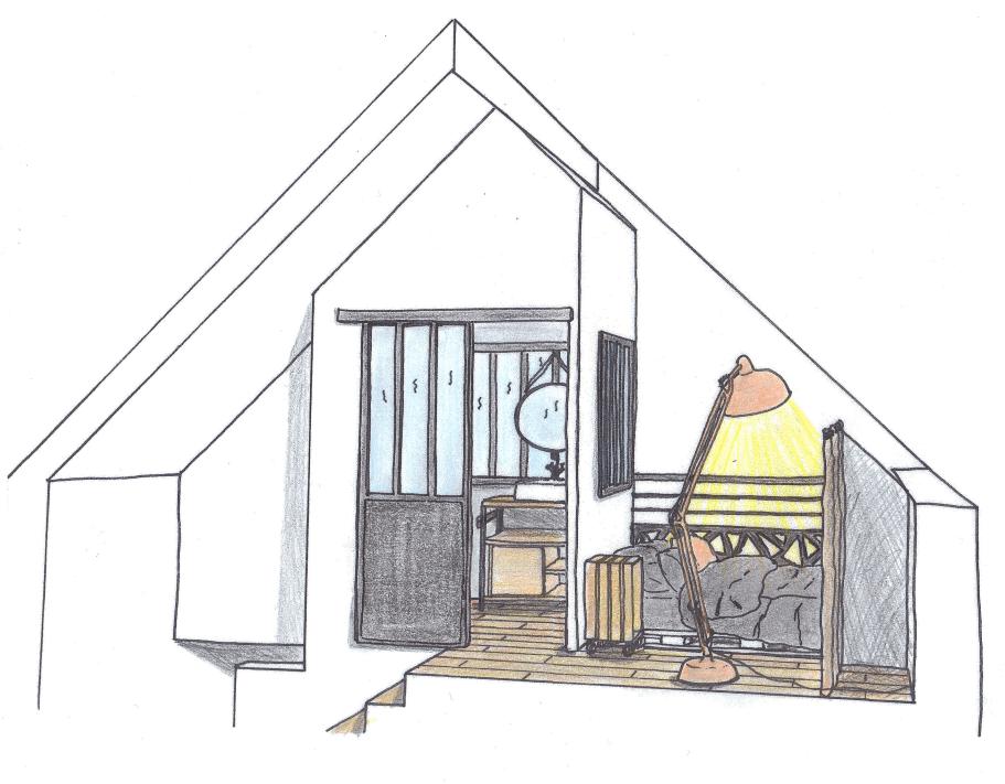 croquis étage mini loft