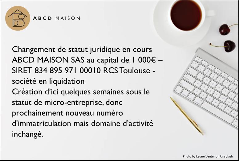 mentions légales ABCD MAISONISON
